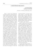 prikaz prve stranice dokumenta O KRITIČKOM MIŠLJENJU