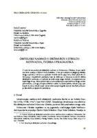 prikaz prve stranice dokumenta Obiteljski nadimci u Držimurcu i Strelcu: motivacija, tvorba i pragmatika