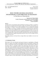 prikaz prve stranice dokumenta Role Theory and Role Analysis in Psychodrama: A Contribution to Sociology