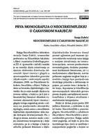 prikaz prve stranice dokumenta Prva monografija o neocirkumfleksu u čakavskom narječju